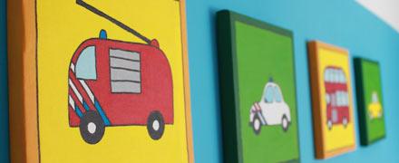 Vrolijke kinderschilderijen